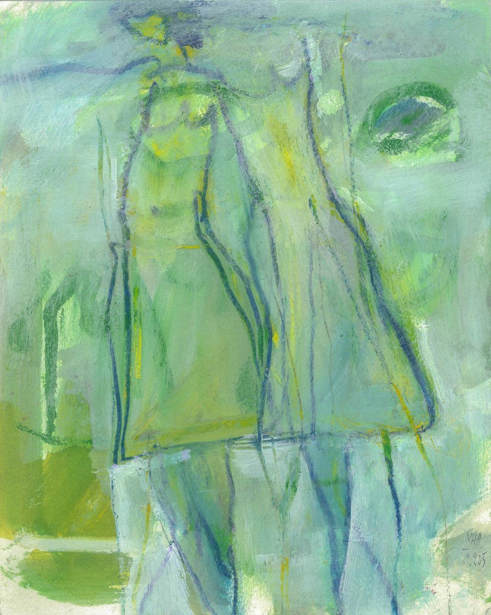 03  ANNA UND HANNA, 2005, Acryl auf Papier, 24x30 cm
