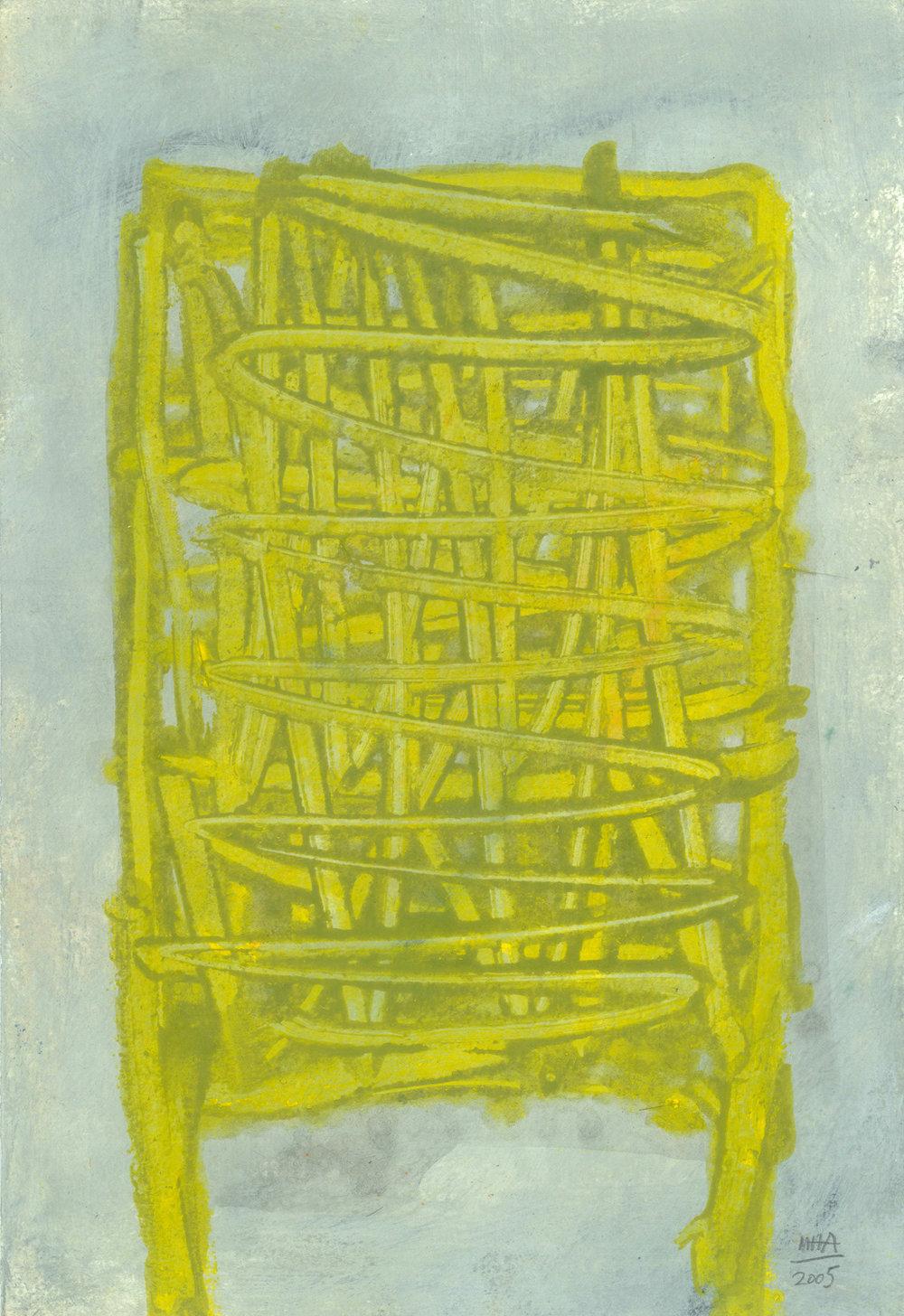 10  STEHEN, 2005, Acryl auf Papier, 15x23,5 cm