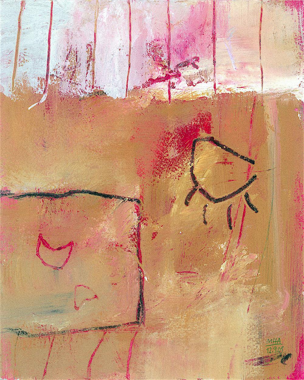 14  VERLIEBT, 2005, Acryl auf Papier, 24x30 cm
