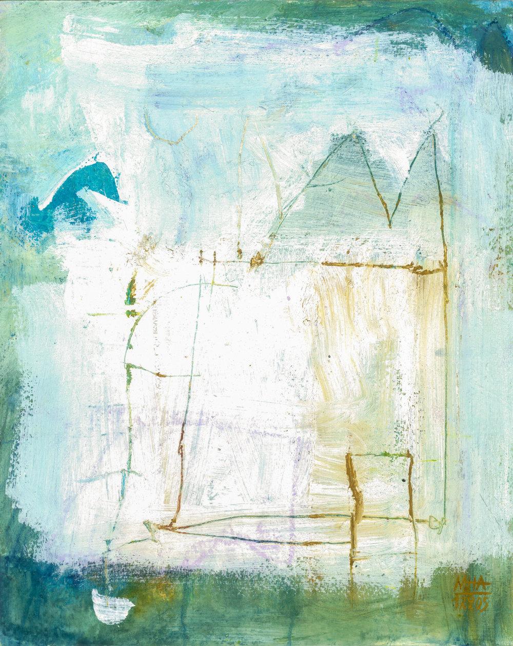 16  VERTRÄUMT, 2005, Acryl auf Papier, 24x30 cm