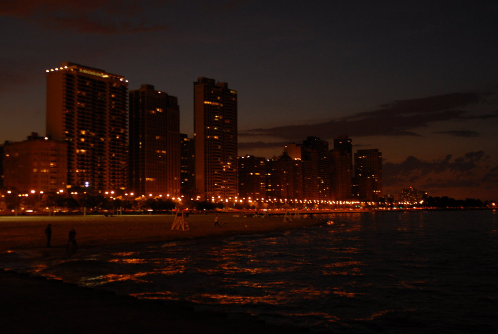 Chicago Lakefront Event evening