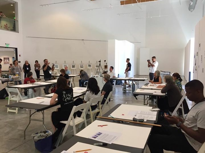 Future IDs art workshop at the Arts in Corrections Conference, Loyola Marymount University, Los Angeles, CA, June 29th, 2017