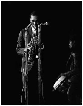 John Coltrane at Stanford, January 1966. Photo: Andy Nozaka.
