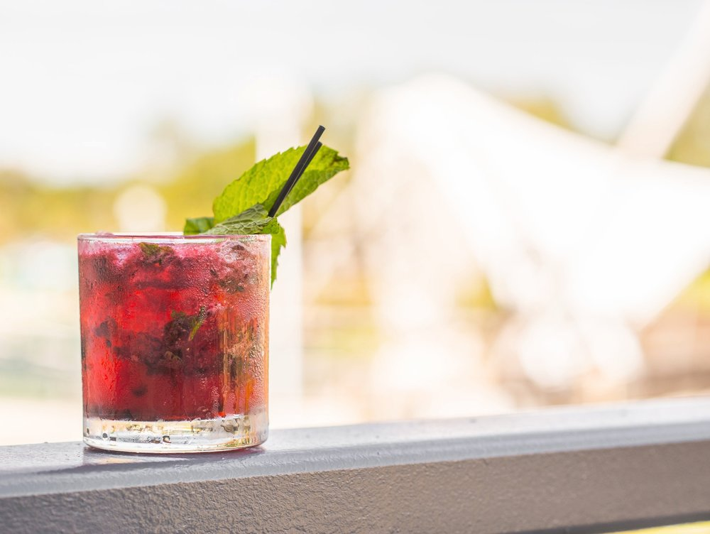 Rosewater Pink LemonadeMojitoBlack MariaHawaiian Queen - $4 SPECIALTY COCKTAILS&$4 DRAFT BEERS