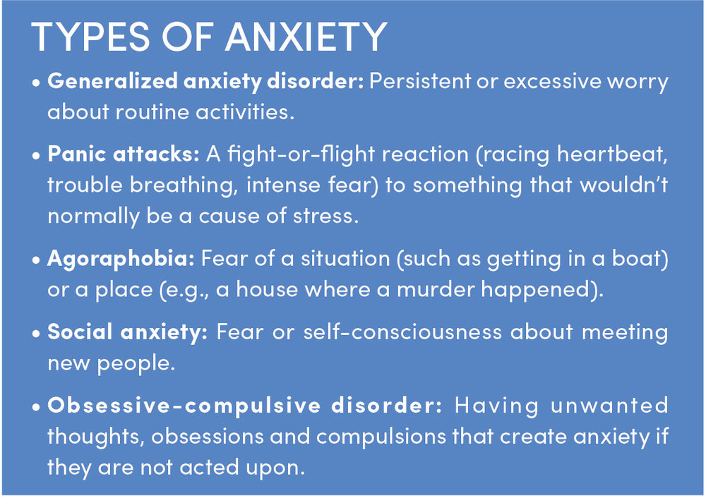 What type of anxiety are you experiencing?    Anxiety Disorders Association of American  http://www.adaa.org/      Women Escaping a Violent Environment http:// www.weaveinc.org /    Adult Children of Alcoholics (ACA) h ttp://adultchildren.org/     Mental Health America ht   tp://  www.mentalhealthamerica