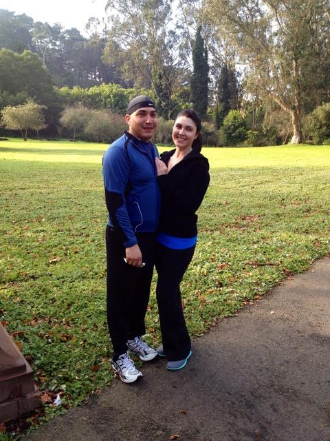 My husband and I at our heaviest weight- pre nutritional changes- December 2012