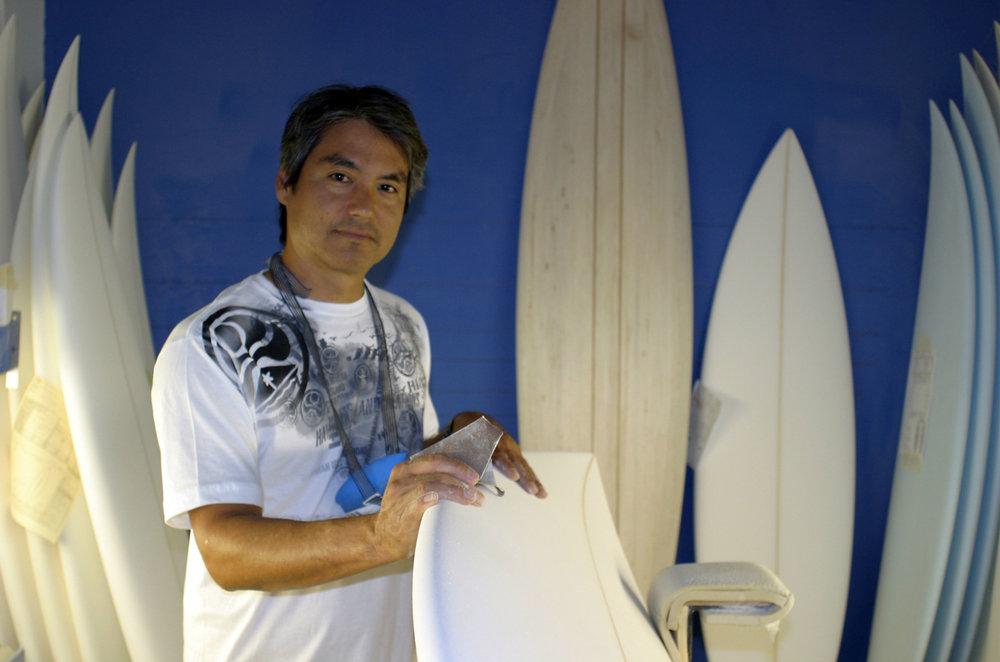 Eric Arakawa  Shaper / Surfer / Hard Working, Extremely Talented, Gracious & Giving Human   Follow Eric on Instagram