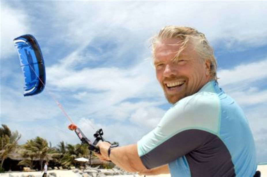 Richard Branson  Entrepreneur / Visionary / Philanthropist / Kiter   Follow Richard on Instagram