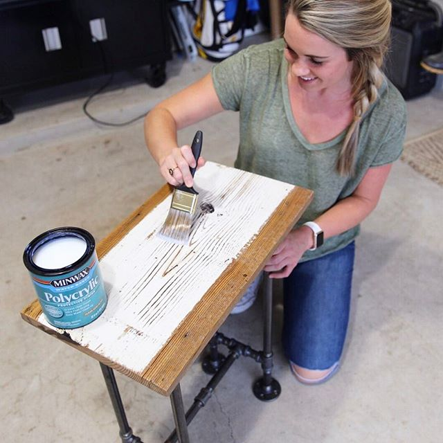 You can't buy happiness, but SOON you can buy our industrial end tables and that's basically the same thing!!💁🏼🙌🏼 #reclaimedwood #barnwood