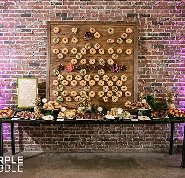 Donut mind if I do🍩🙋🏼 Our custom donut wall in action! Need a custom order? Let us know - I donut think there's a project we won't attempt! #getit #okayimdone