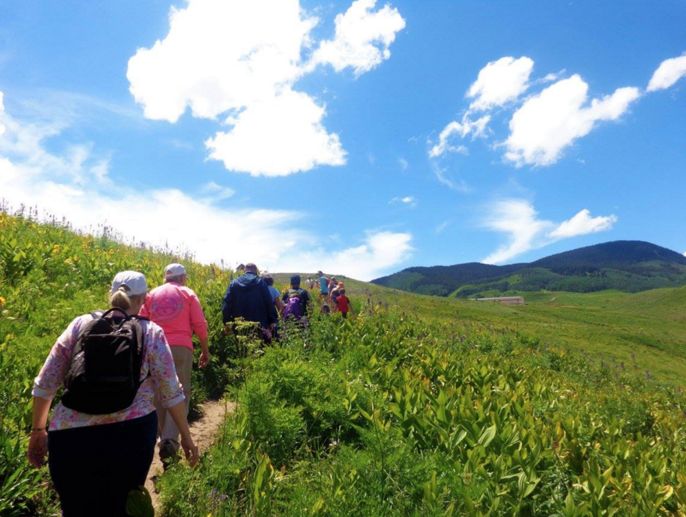 Visitors exploring trails close to Crested Butte.