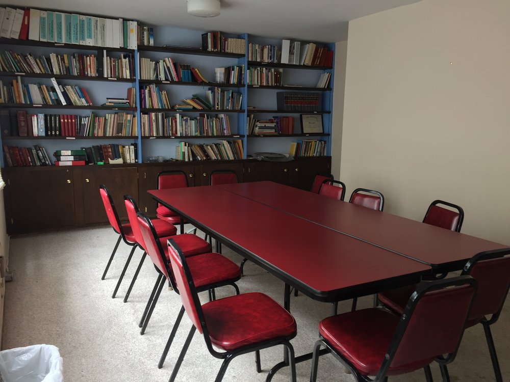 Conference Room - Upstairs in our office suite is the well-appointed Conference Room that comfortably seats 15 people. This space and its adjacent Welcome Area are great for small meetings, intimate retreats, or conversations.