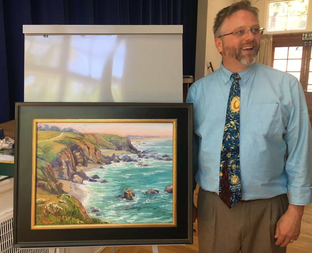Tony and the Sonoma Coast painting.jpg