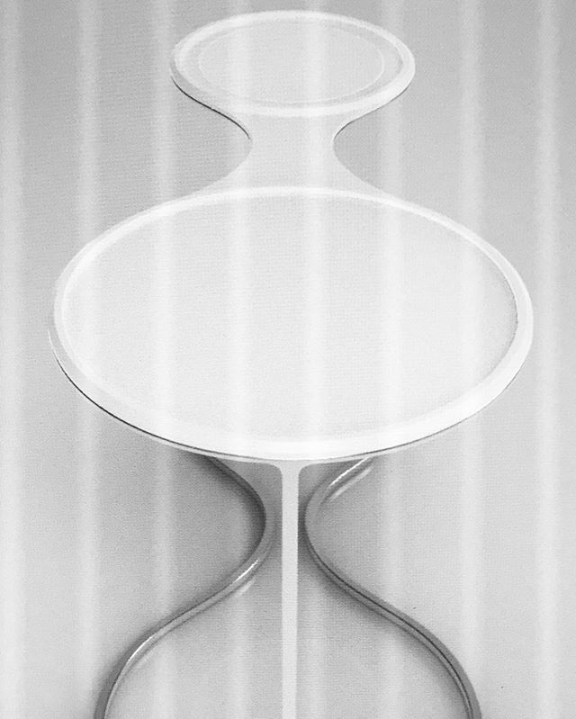 Glint Side Table | Polished Steel Frame | White Tray  Release 2 | Coming Soon