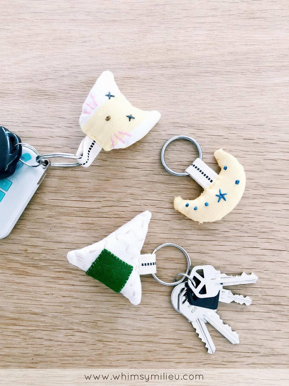 Onigiri Japanese Rice Ball Keychain DIY