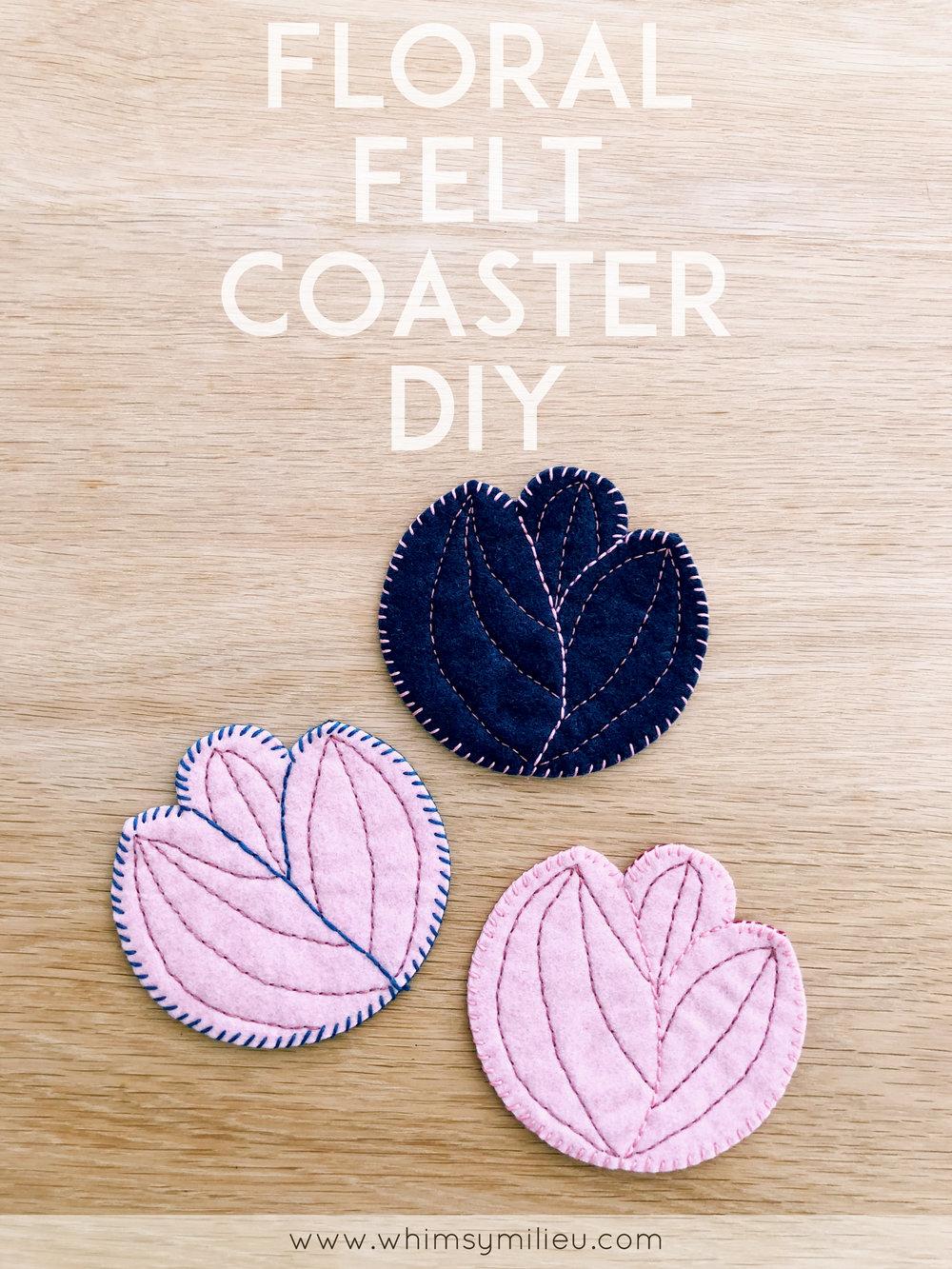 Floral Felt Coaster DIY