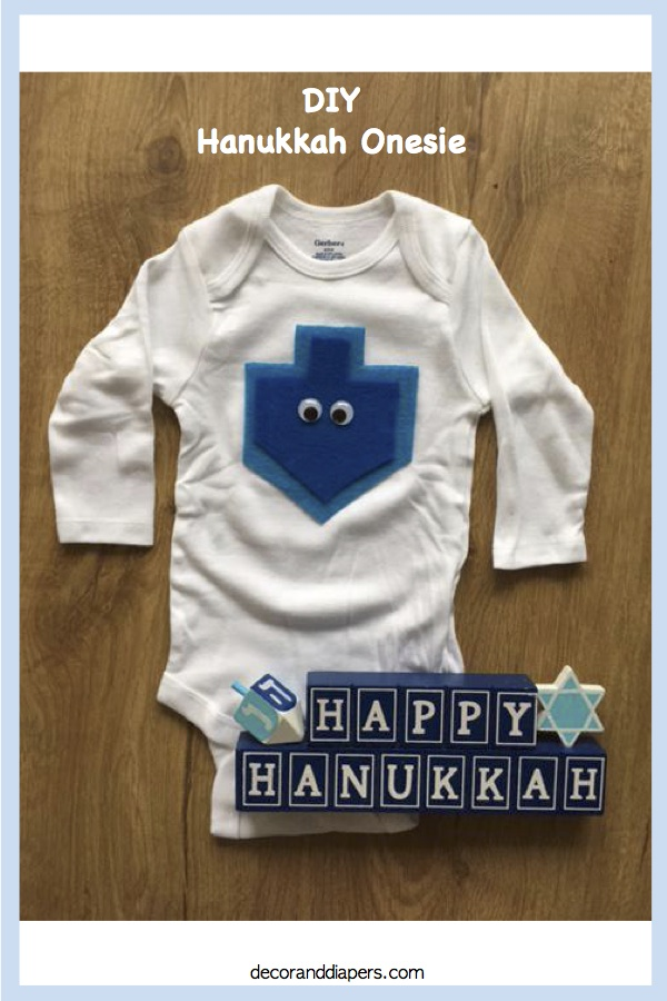 10 in 10: Day 10- DIY Hanukkah Onesie