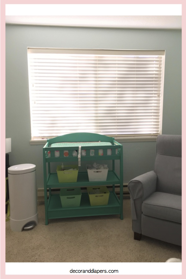 DIY Painted Changing Table