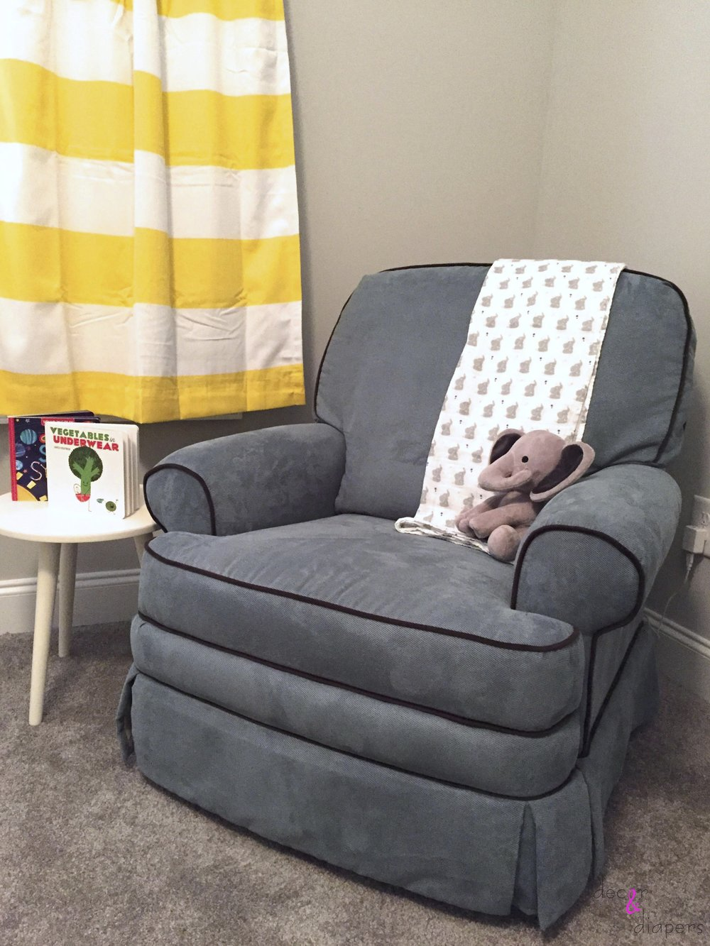 A cozy corner to feed and relax with baby