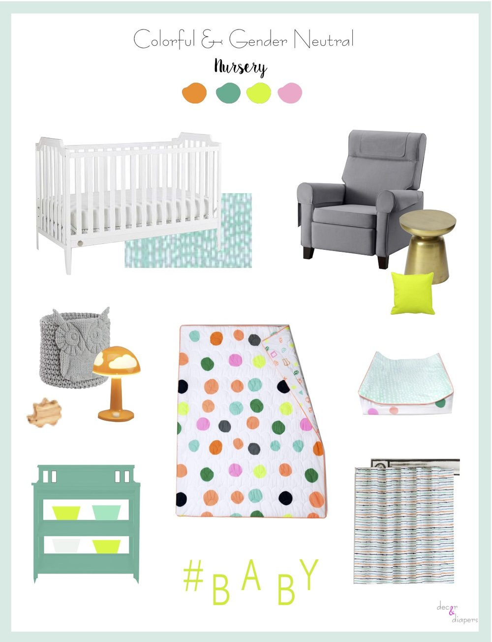 How to Regsiter for a Colorful Gender Neutral Nursery