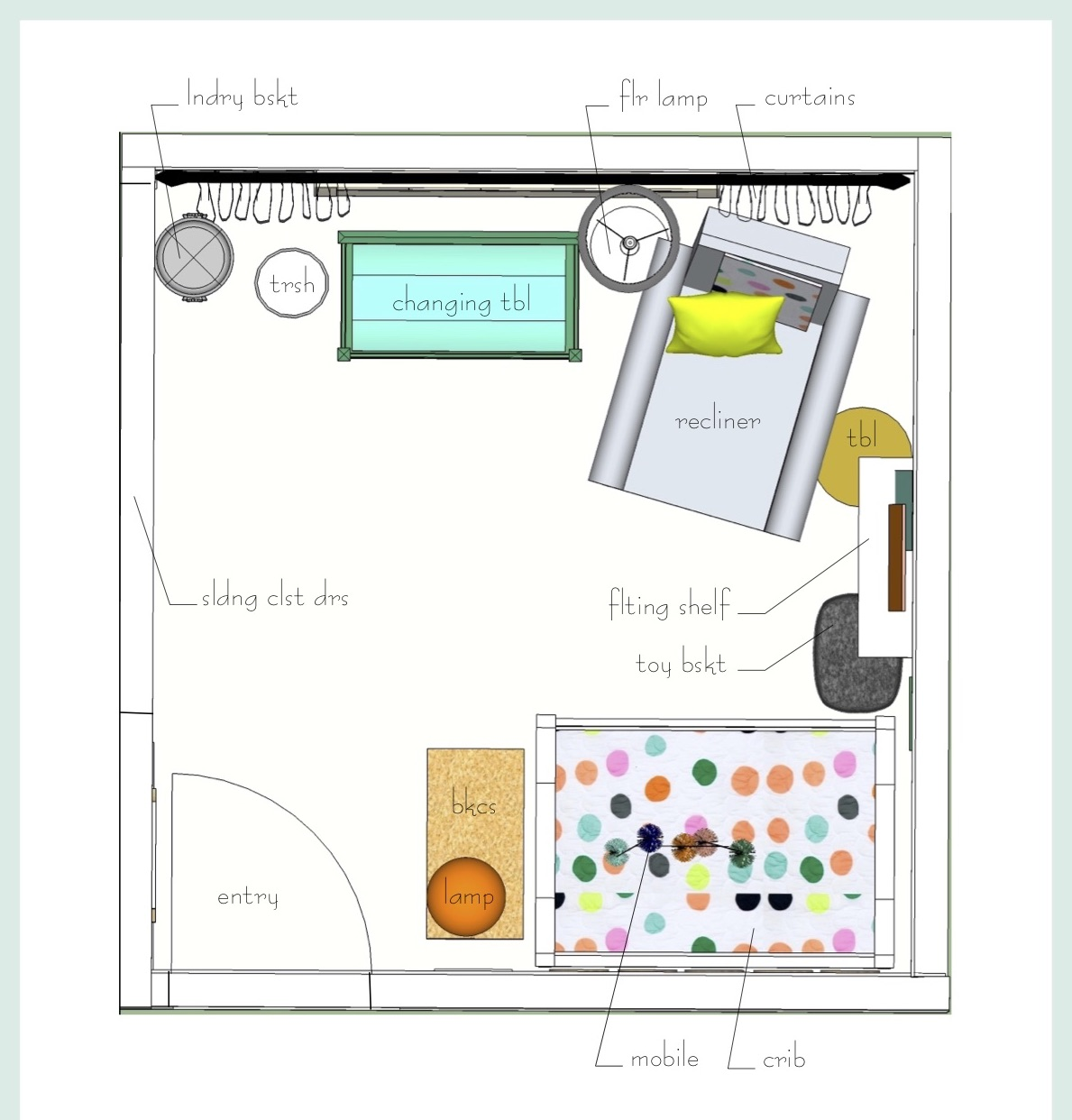 How To Create The Best Floor Plan For Your Nursery — Decor & Diapers
