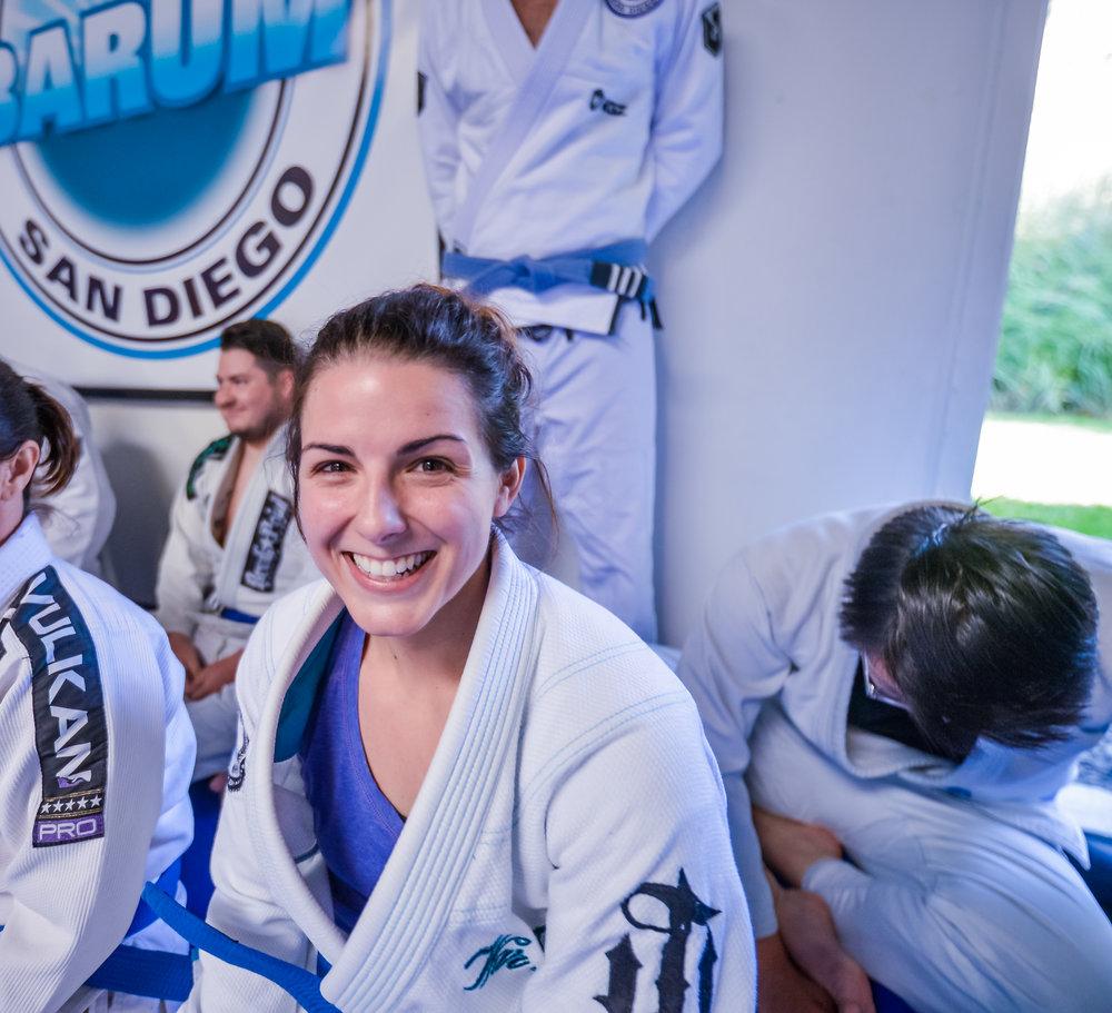 All smiles as a Brazilian Jiu Jitsu Blue Belt