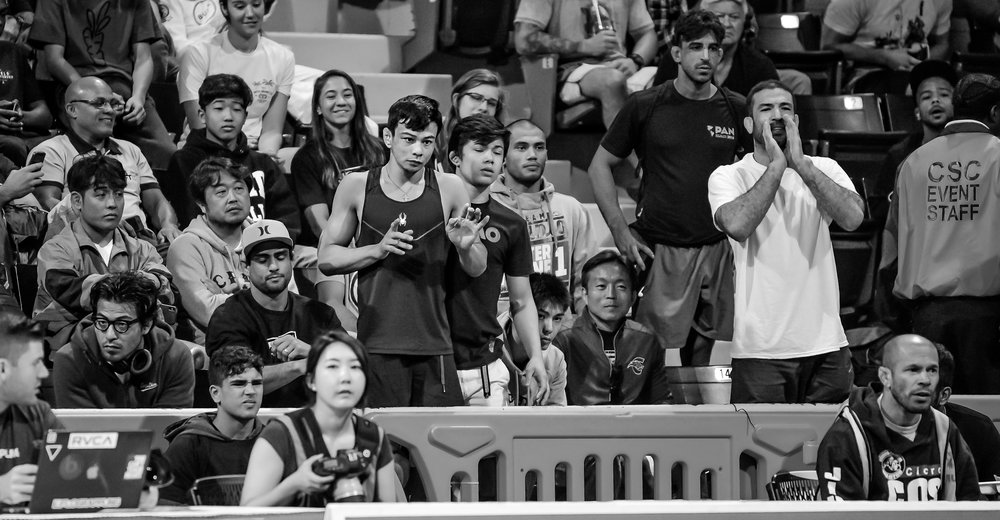 Paulo Miyao's absence from the IBJJF competition scene has relegated him to the stands supporting his teammates and brother, João Miyoa. Paulo is expected to return to IBJJF competition next year.