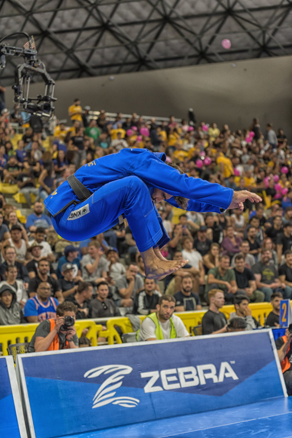 Leandro Lo's pre comp ritual includes this vertical leap.