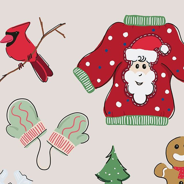 The holidays are just around the corner & I'm working on this holiday winter set! This will be my first graphics set for Leeloo Land and I can't wait to put it up for sale on @creativemarket! Check out my site for Freebies and more! #holidaytimes #winterdays #uglysweaterparty #itscoldoutthere #tistheseason🎄