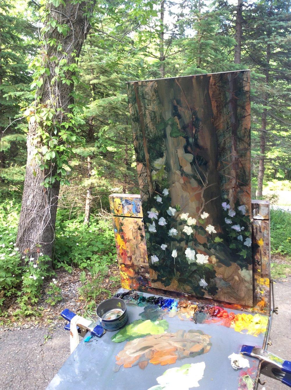 Northern Studio Painting in the woods.jpg