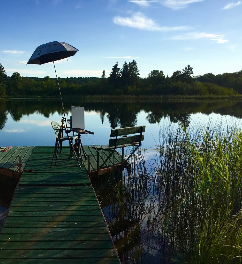 Northern Studio Painting on the lake.jpg