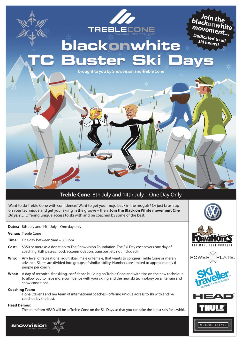 Invitation to Treble Cone Buster Ski Day 2009