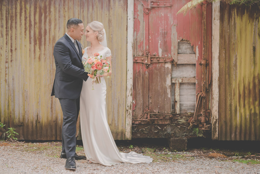 rustic multicultural couple {Auckland wedding photographer} Landsendt Garden