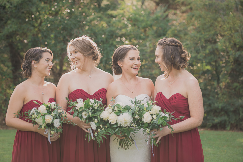 bride with bridesmaids {New Zealand wedding photography}