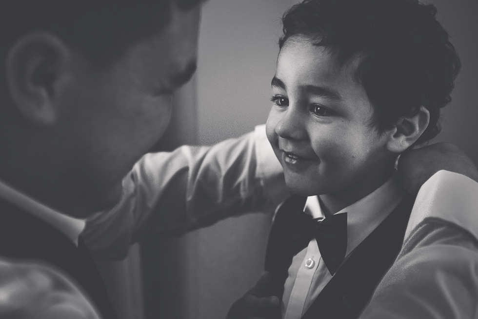 groom getting read with son {Northland wedding photographers}