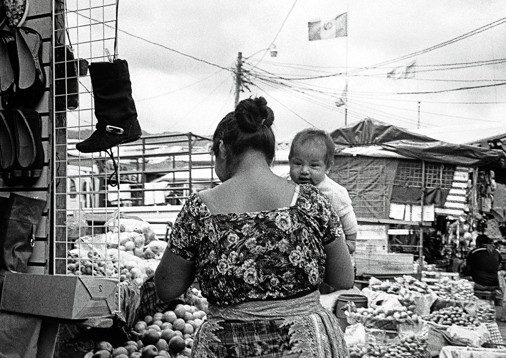 A mother and her baby in Chichicastenango