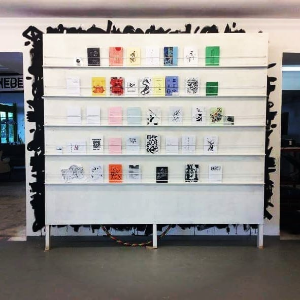 - PARASITIC ZINE GATHERINGARNHEM, THE NETHERLANDS, 2018My zines on display up on the top shelf, 3rd and 6th from the left.