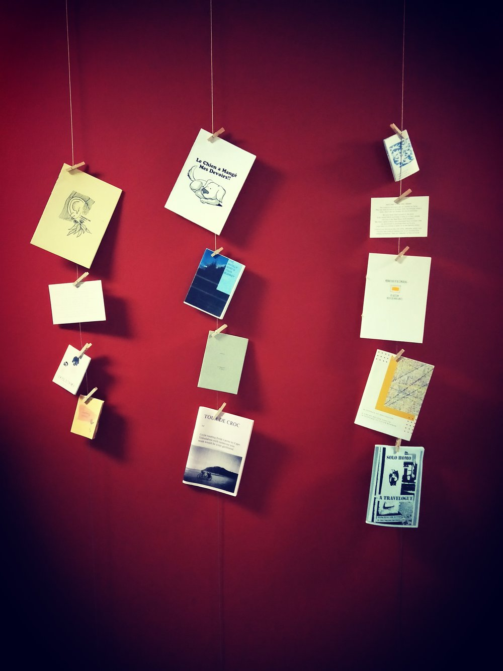 Some of my zines at New Moon community creative space in Lewisham. -