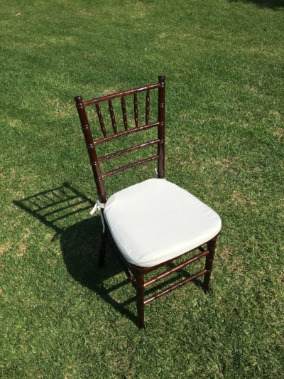 "Mahogany Chiavari Chairs  Dimensions: 19"" wide x 17"" deep x 30"" tall"