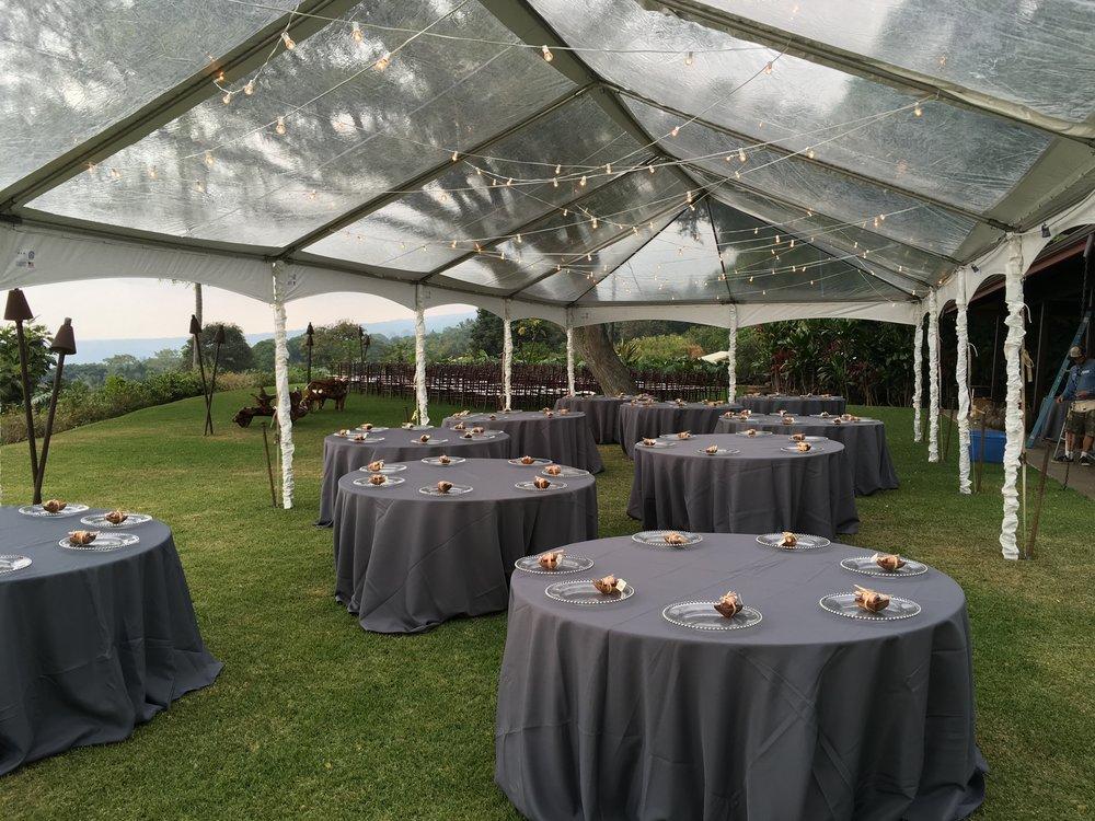 Linens. Big Island Tents ... & Linens u2014 Big Island Tents
