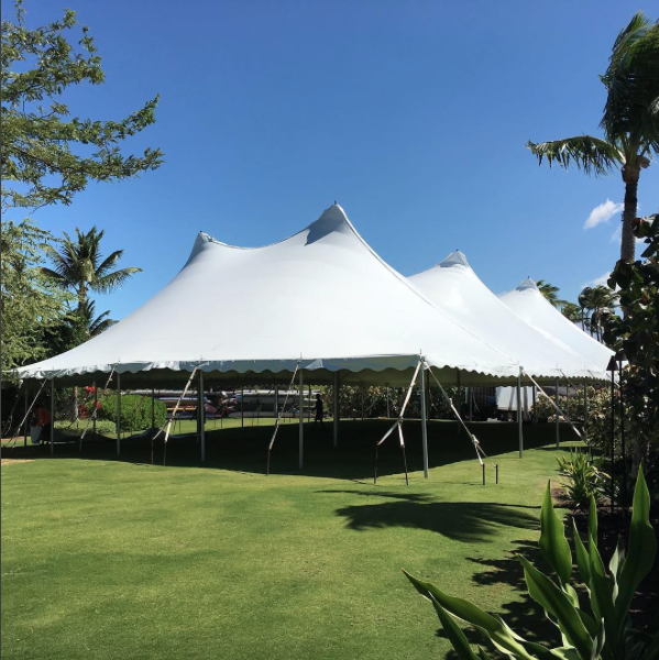 60x100 for large corporate event at lava lava beach club. @mcahawaii