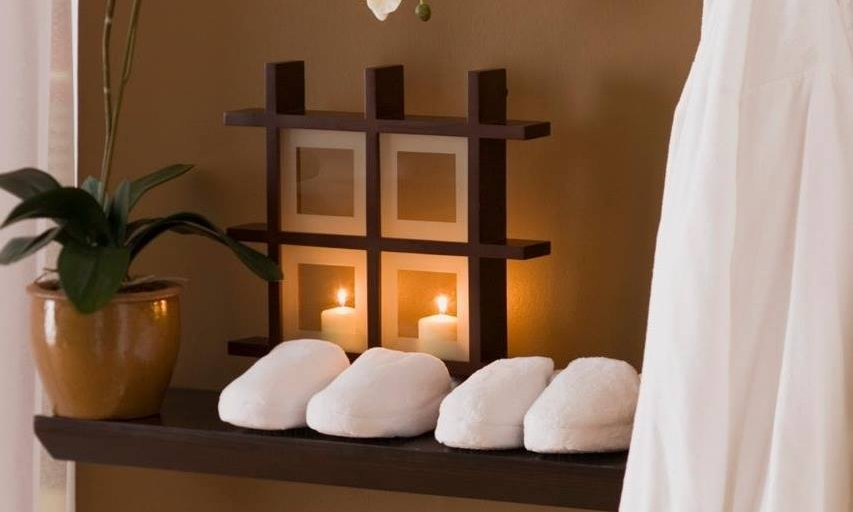 Spavia day spa plush robe and slippers