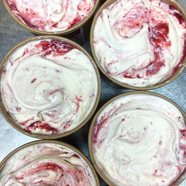 The summer is slowly coming to an end, and so is our seasonal lineup, including Strawberry Fields. • 🍨 Tangy sour cream ice cream, ribboned with a juicy, hand-picked strawberry compote from Steven's Strawberries in Wetaskiwin! 🍨 • Find it this Saturday @citymarket104 while supplies last! (Please note that we're NOT at 124 this Thursday) . • #exploreedmonton #revolutionyeg #revolutionicecream #yegicecream #yegmarkets #narcityedmonton #NaturallyMade #YEGicecream #RevolutionIceCreamCo  #naturalicecream #travelalberta #780 #Edmonton #EdmontonEats #YEGevents #YEGfood #YEGfoodie