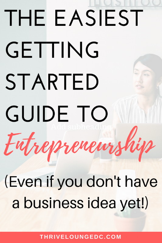 entrepreneurship getting started guide