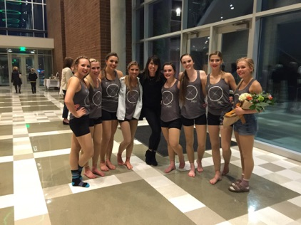 Kim with our amazing dancers from Olympus High Dance Company