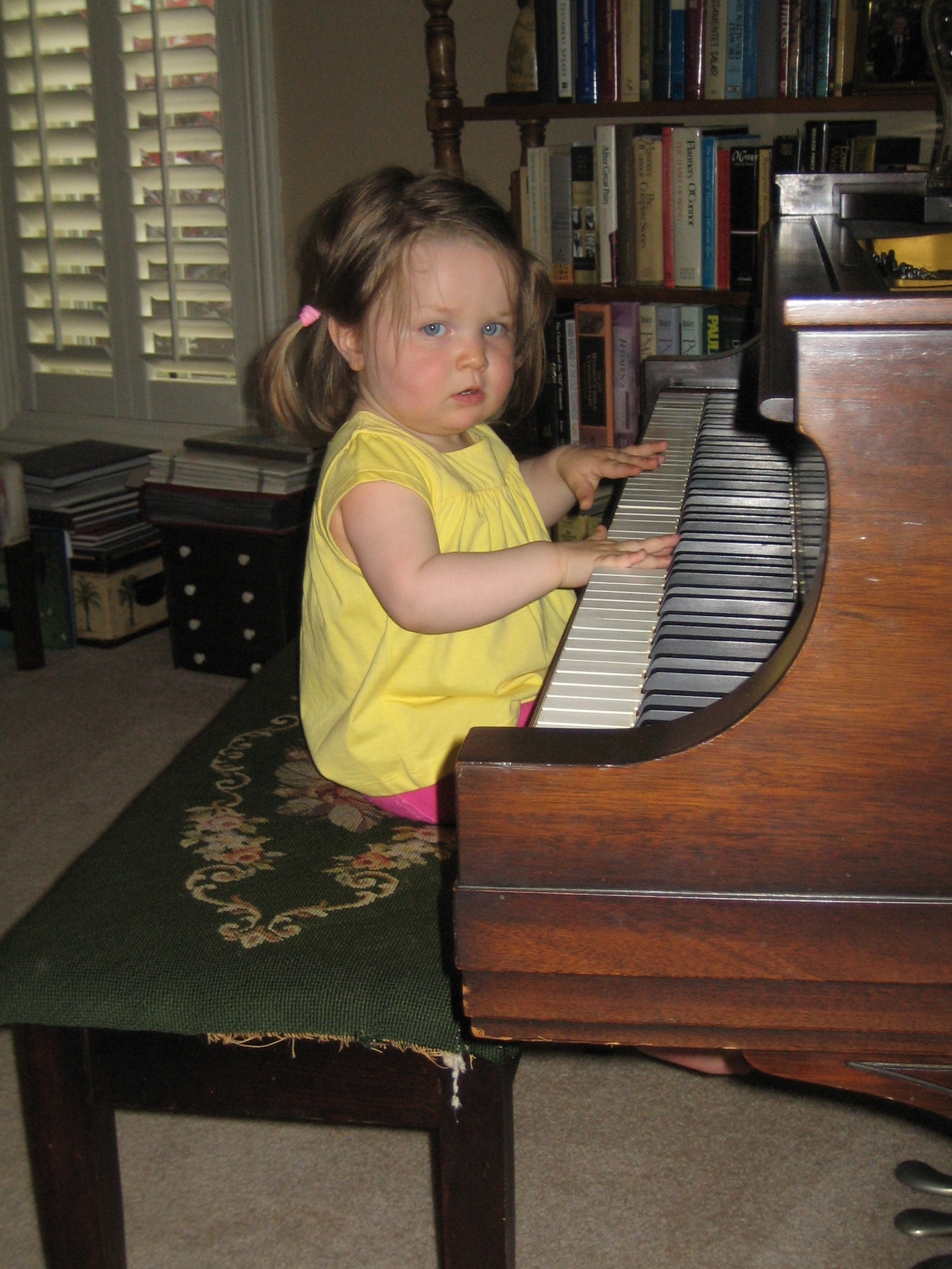 Gigi at the piano.