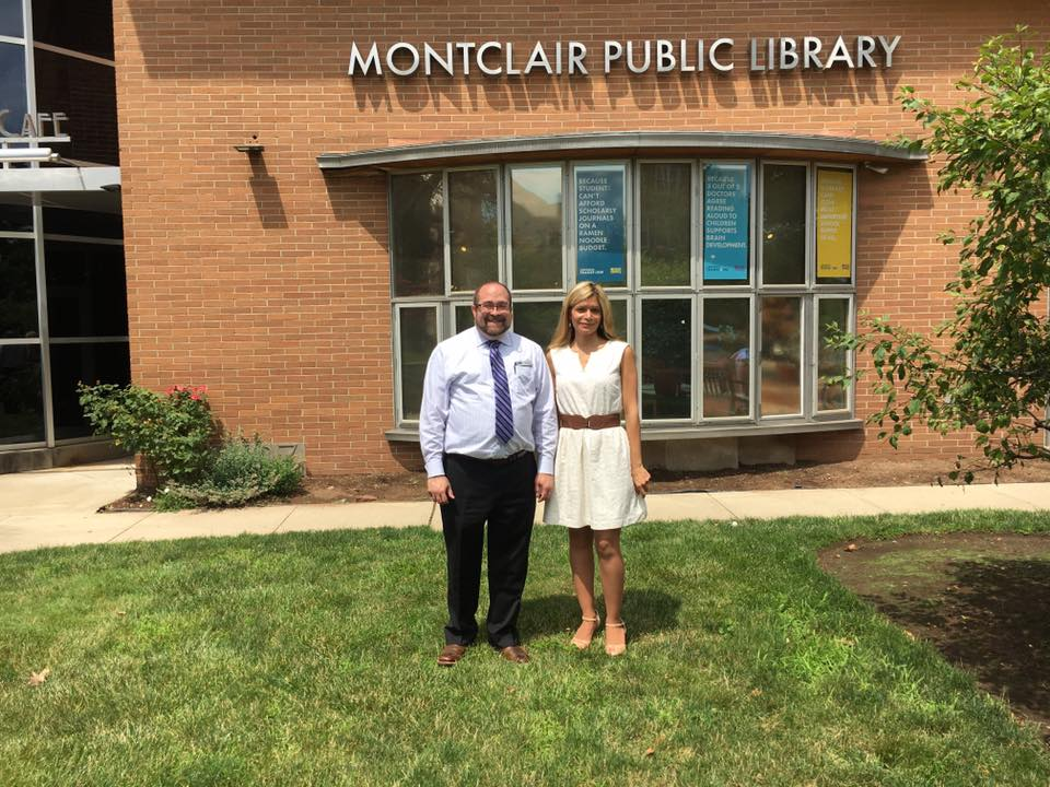 Loida Garcia-Febo with Montclair Public Library Director, Peter Coyl
