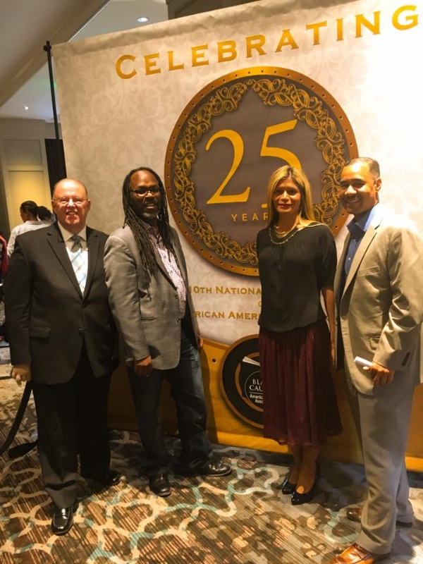 Here with my esteemed fellow ALA Executive Board colleagues, Jim Neal, ALA President, Trevor Dawes and Julius Jefferson, Executive Board Members.
