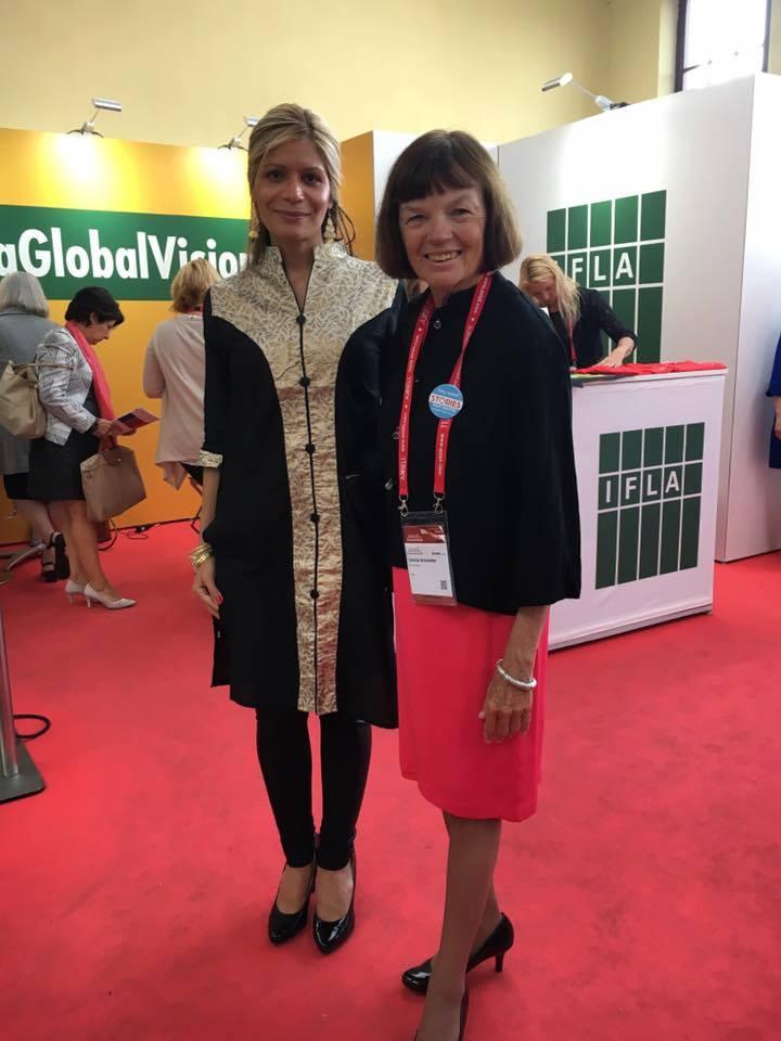 With Donna Scheeder, IFLA President 2015-2017.