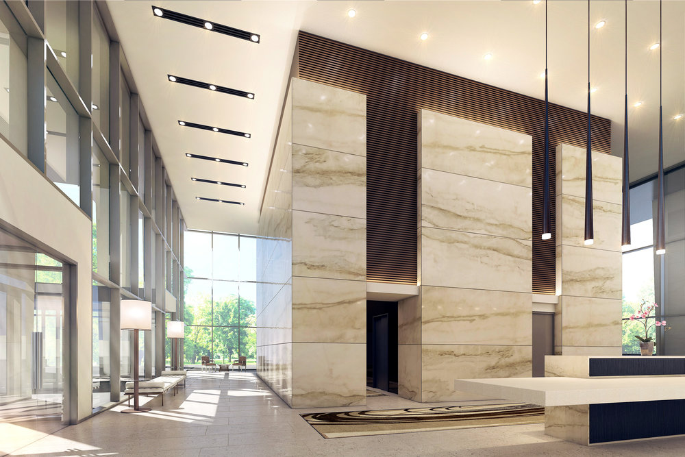 Interior Lobby Rendering Burnaby